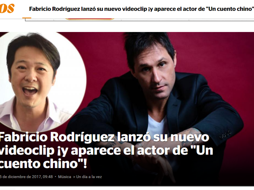 Fabricio Rodríguez lanzó su nuevo videoclip ¡y aparece el actor de «Un cuento chino»