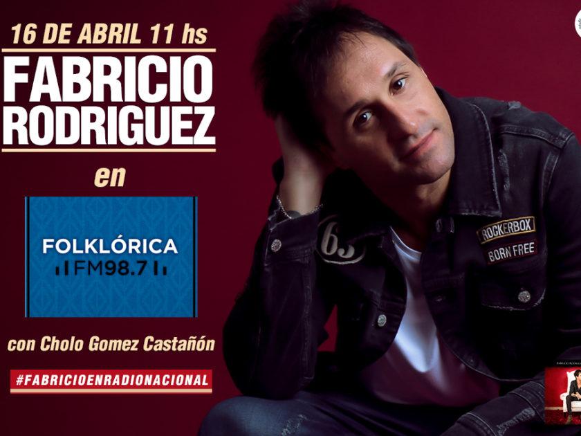 Fabricio Rodriguez en Radio Nacional con Cholo Gomez Castañón
