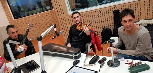 Fabricio visitó Radio Nacional AM 870